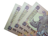 INR 10-Indian Bank Notes — Stock Photo