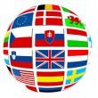 Stockfoto: Globe of world flags