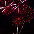 Red firework salute — Stock Photo #4313301