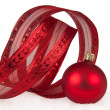 Stock Photo: Red chistmas decoration