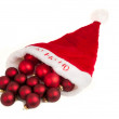 Hat santa with baubles — Foto Stock