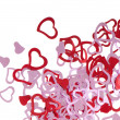 Red valentine hearts - Foto Stock