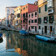 Canal between houses venice — Stock Photo