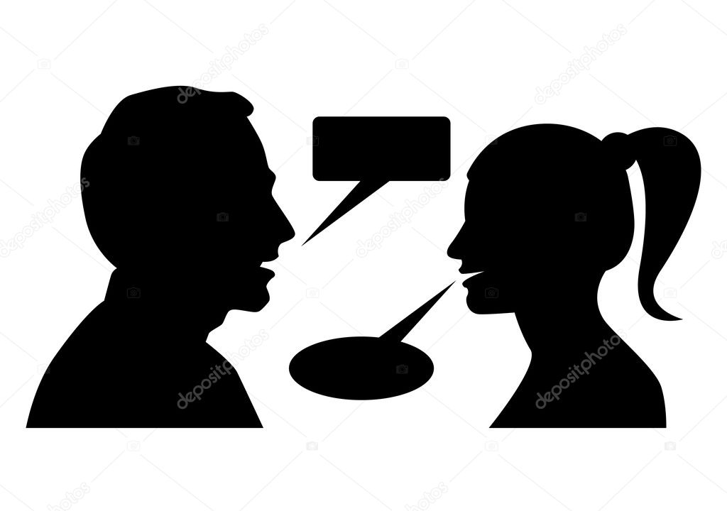 Man and woman arguing with each other — Stock Vector #4140362