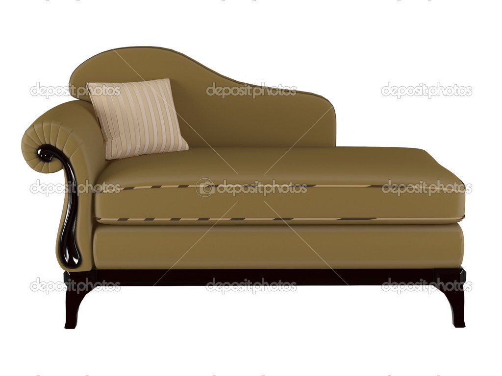 brown leather sofa isolated - photo #22