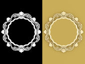 Decorative vintage gold empty wall picture frames — Stockfoto