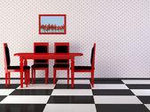 Design interiéru vinobraní jídelny eleganci — Stock fotografie