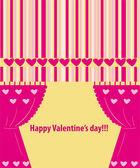 Valentine greeting card wiht hearts — Stock Photo