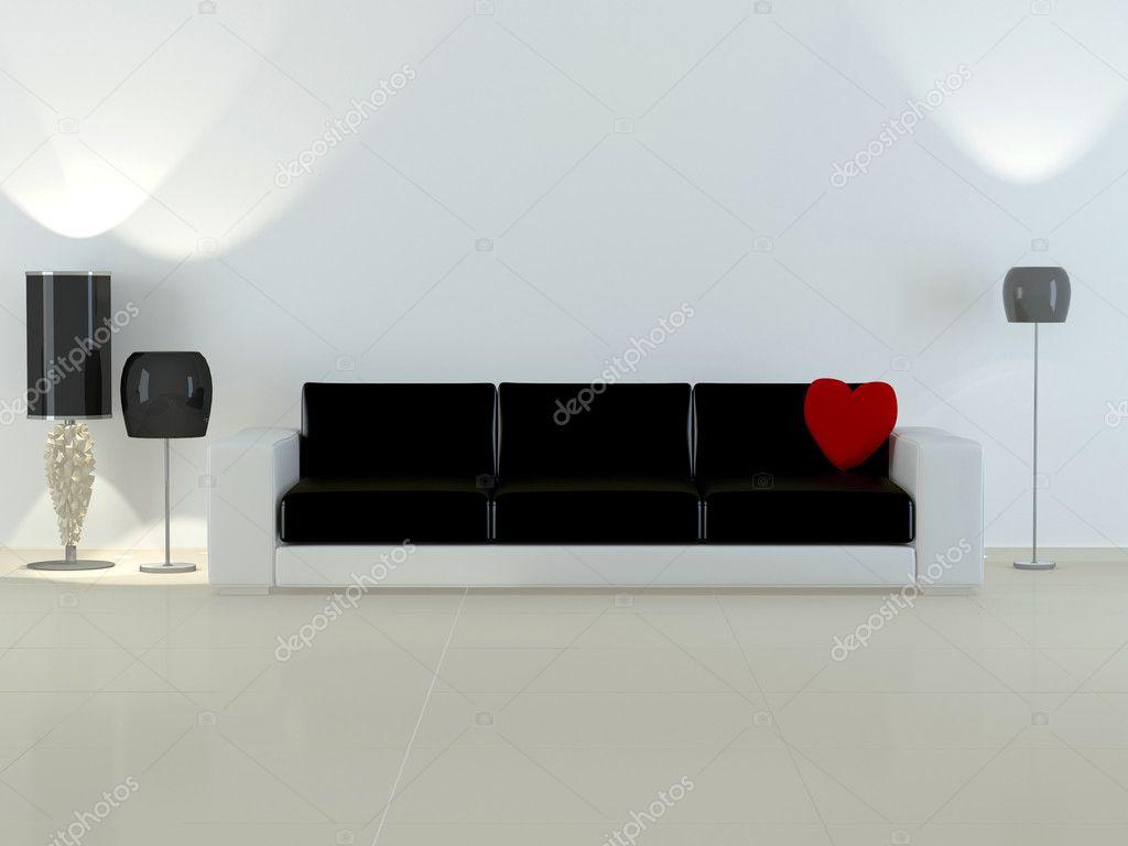 Design interieur van elegantie moderne woonkamer — stockfoto ...
