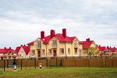Inhabited houses, the village Nekrasovskoe, Sochi — Stock Photo