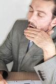 Tired businessman — Стоковое фото