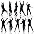Dancing Silhouettes — Stock Vector #4327562