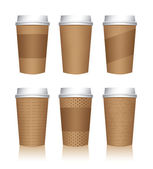 Coffee Cup Templates — Stok Vektör
