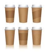 Koffie beker sjablonen — Stockvector