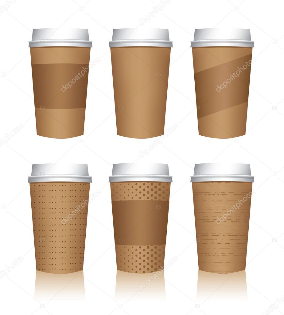 Coffee Tumbler Template Coffee Cup Templates Isolated