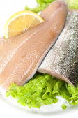 Fresh salmon fillets — Stock Photo