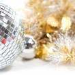Disco ball with christmas decoration - Stock Photo