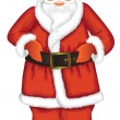 Santa claus isolated - Stock Vector