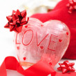 Love theme, heart decorations — Stock Photo