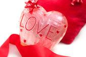 Tema de amor, decoraciones de corazón — Foto de Stock