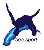 Logo de sports de mer — Vecteur