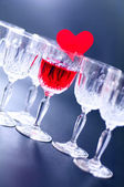 Glasses with heart — Stock Photo