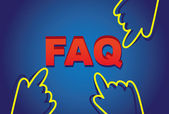 Faq with cursors — Stock Vector