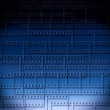 Stock Photo: Blue abstract background with filmstrips