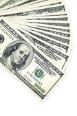 One hundred dollars isolated on white background — Stock Photo