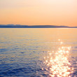 Sunset at sea — Foto Stock