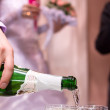 Champagne on wedding celebration — Stock Photo