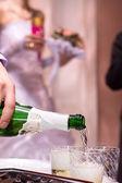 Champagne on wedding celebration — Stock Photo