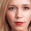 Close-up portrait of beautiful blonde woman — Stock Photo