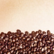 Coffee grunge beans - Stock Photo