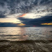 Seascape sundown — Foto Stock