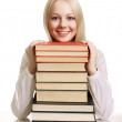 Friendly College student with books — Stock Photo