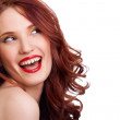 Attractive smiling woman portrait on white background — Stock Photo #5089117
