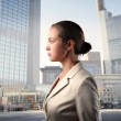 Businesswoman in the city — Stock Photo #4011803