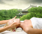 Oriental massage — Stockfoto