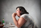 Junk food for dinner — Stock Photo