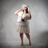 Tłuszczu turystycznych — Zdjęcie stockowe