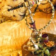 Arabic water pipe with tea set — Stock Photo #4367141
