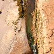 Aerial Sahara desert photo with river — Stock Photo