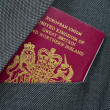 Business Travel Image Of A UK Passport — Foto de Stock