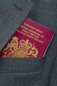 Business Travel Image Of A UK Passport — Stock Photo