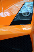 An Orange Sports Car — Stok fotoğraf