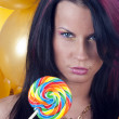 Sexy girl with candy — Stock Photo