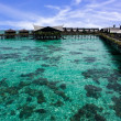 Stock Photo: Clear water in Kapalai Island Resort