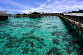 Clear water in Kapalai Island Resort — Stock Photo