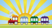 Train — Vector de stock